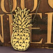pineapple necklace laser cut