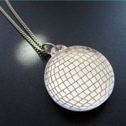 glitterball necklace mirrored