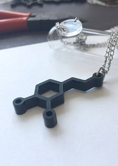 dopamine chemical structure necklace