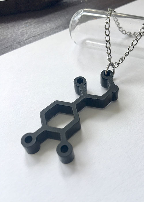 adrenaline chemical structure necklace