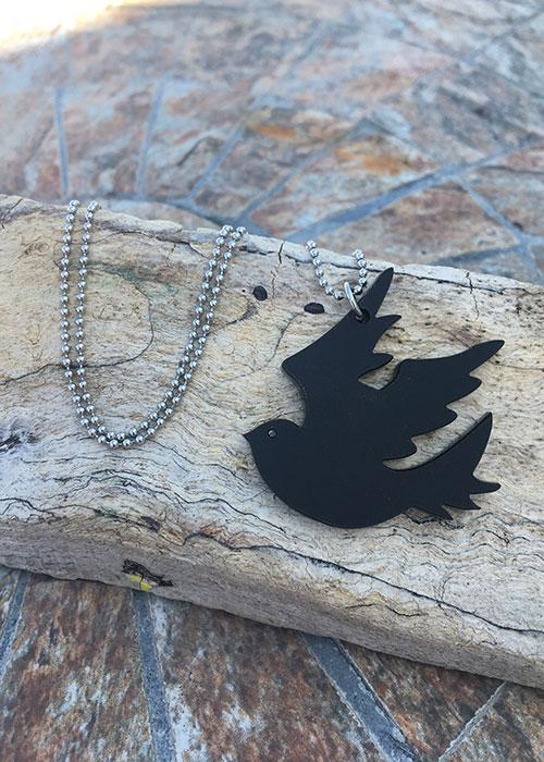 black dove necklace