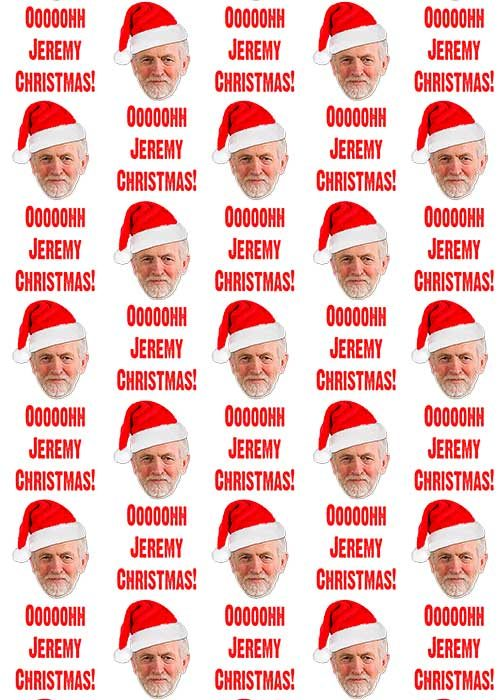 jeremy corbyn wrapping paper white background