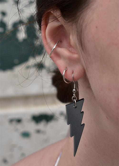 lightning bolt earrings